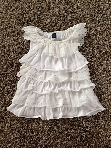 Details About Baby Gap Toddler Girls White Ruffle Tiered