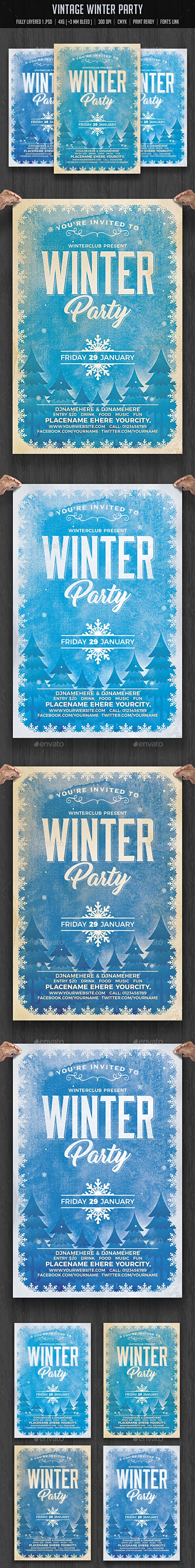 17 best images about flyers posters bbq party vintage winter party