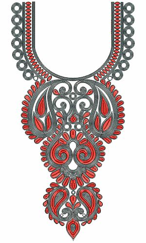 9338 Neck Embroidery Design
