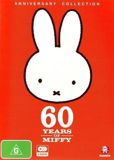Miffy: 60 Years of Miffy (Anniversary Collection) Miffy, the sweet little bunny star of books, TV series and a film, celebrates her 60th birthday in 2015.  Stories about Miffy and her friends are available in over 50 languages, and are part of many childhoods worldwide.  This 3-disc set contains episodes of the original TV animation series, that shows Miffy and her friends having fun doing, making and learning.  These are short, gentle stories that will engage even very young children.