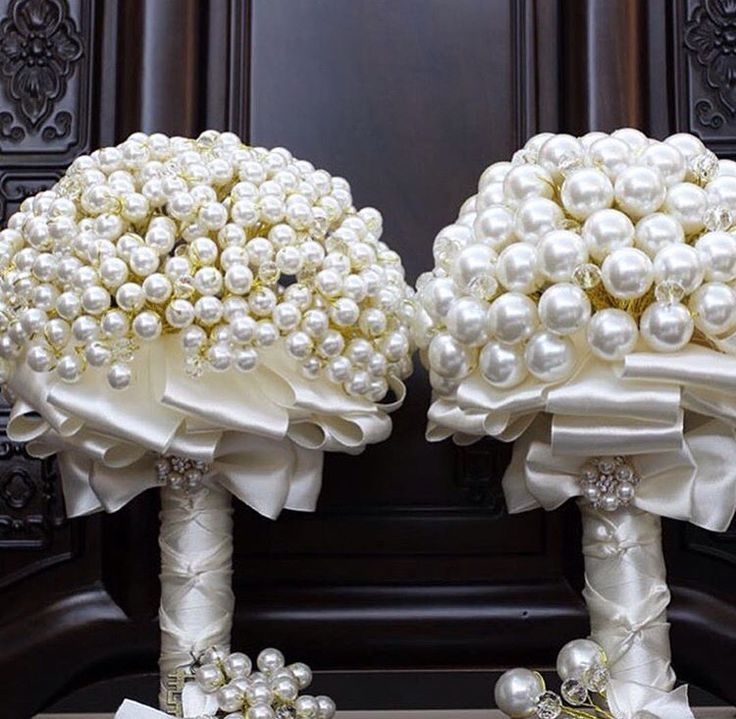 Pearl bouquets.