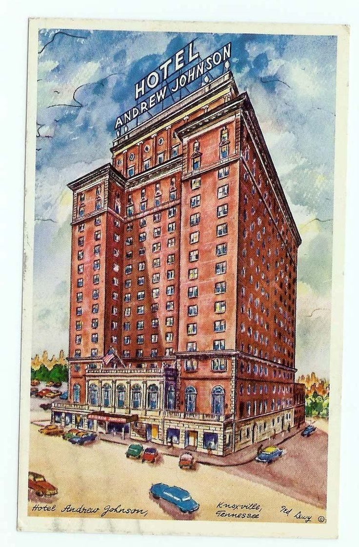 Roller skating rink knoxville - Hotel Andrew Jackson Knoxville Tn Tennessee The Postcard Is A Reduction Of A Ted Lewy Watercolor