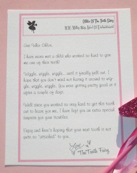 Printable tooth fairy letter kit by confettiprintsshop on for Fairy letters to child