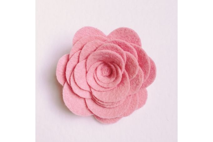 Baby pink rose headband by Dash Of Cute on hellopretty.co.za