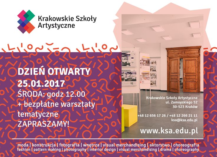 Open Day at Cracow School of Art and Fashion Design - 25.01.2017