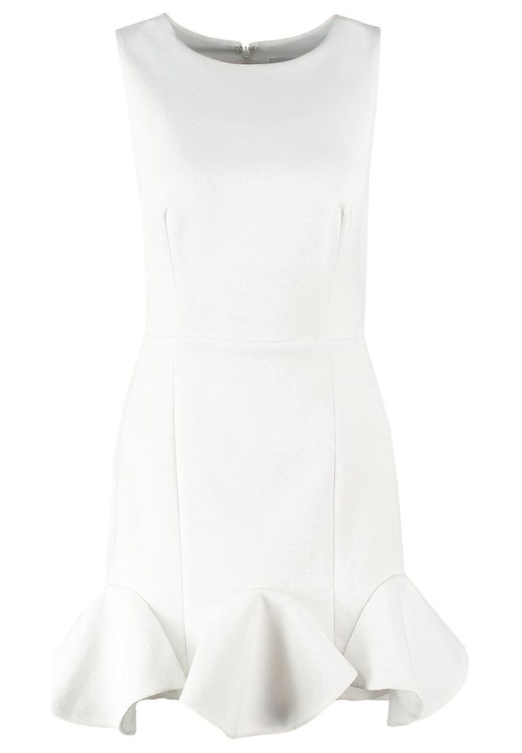 Finders Keepers SAIL AWAY Sukienka koktajlowa white z falbanką / white peplum dress