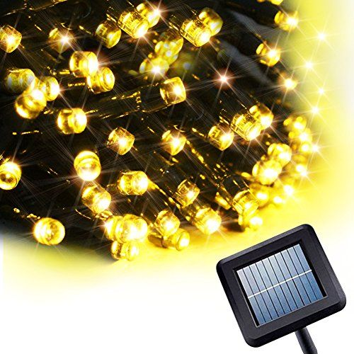 8 Modes 100 LEDs Milocos Solar Powered String Light 33ft10m Solar LED String Light Ambiance Lighting Solar String Lights for Outdoor Gardens Homes Christmas Party Warm White *** Want additional info? Click on the image.