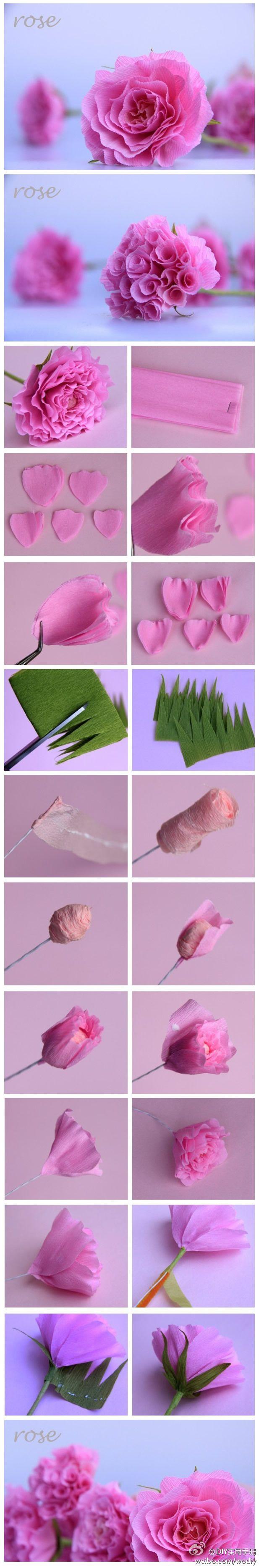fazendo rosas de papel