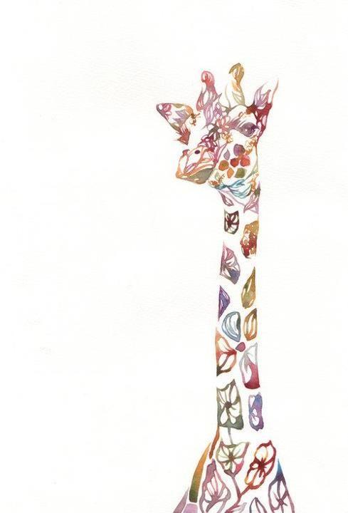 Floral giraffe!