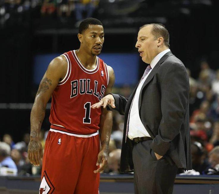 Derrick Rose with coach Tom Thibodeau Photo credit: Nuccio DiNuzzo, Chicago Tribune.