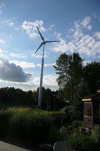 Build it yourself windmill schematics. http://www.diywindturbine.us/ Wind Turbine at Green Leaf Inn