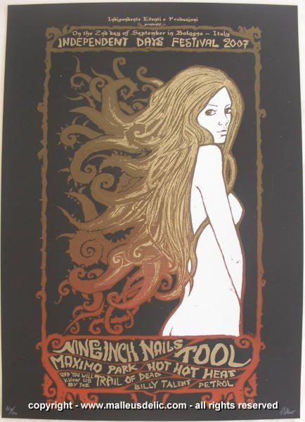 NIN concert poster