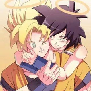 Goku and Gine aww mother and son they don't show much of that