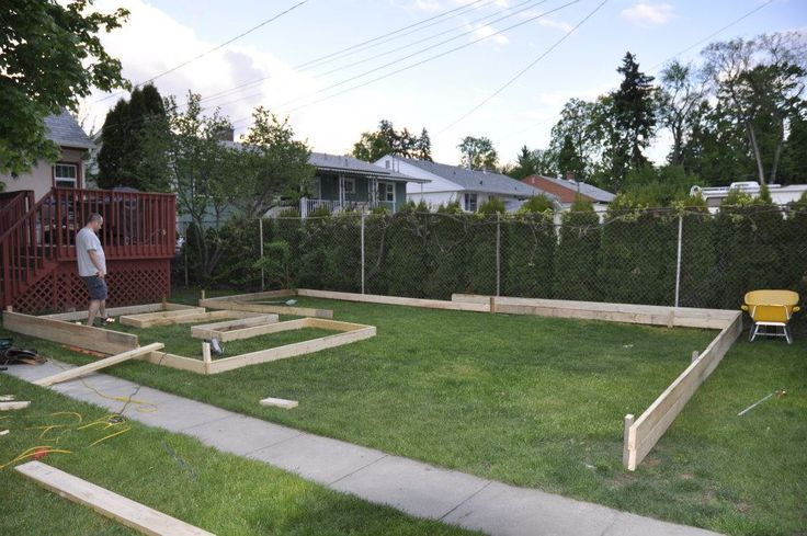 Full view of garden layout