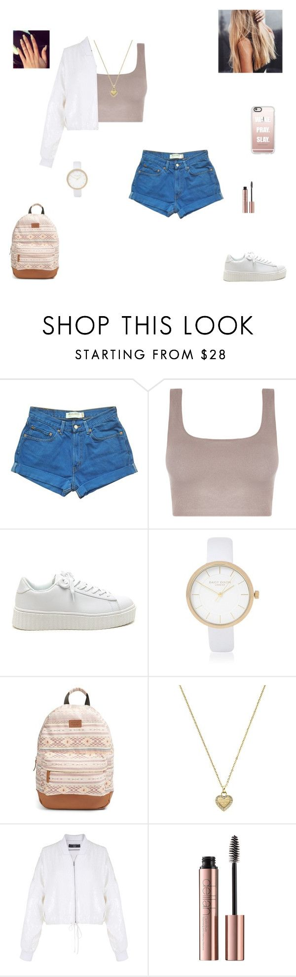"""wake pray slay"" by synclairel ❤ liked on Polyvore featuring Levi's, River Island, Rip Curl, Michael Kors, TIBI, Casetify, Fall, cute, casual and ootd"