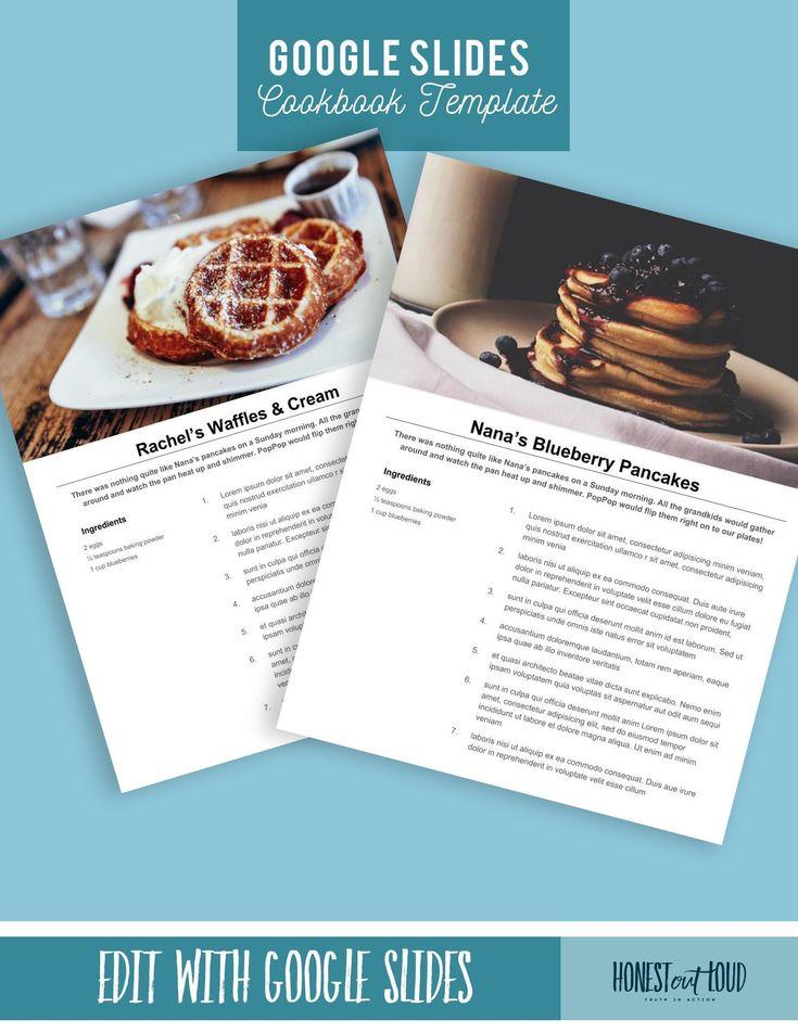 Printable Recipe Template 8 5x11 Instant Download Google Etsy In 2021 Recipe Template Cookbook Template Recipe Book Diy