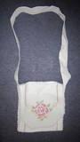 Vintage table runner messenger bag