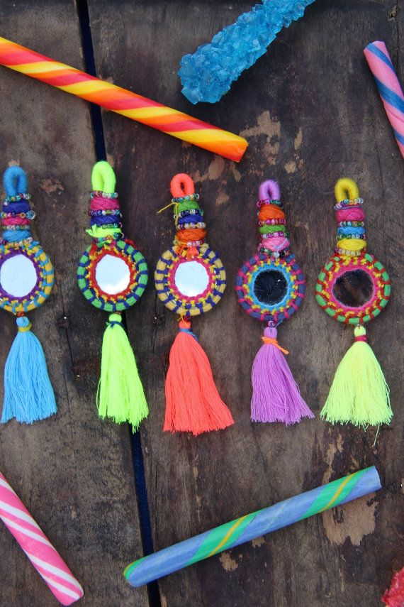 Shorty Tassel Mirror Charms Swag Decoration by WomanShopsWorld