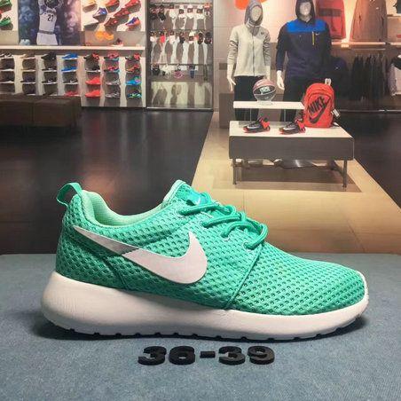 Nike Roshe Run Wholesale Nike Roshe Run Green White Running Shoe ... 1b0f8ebf8ee2