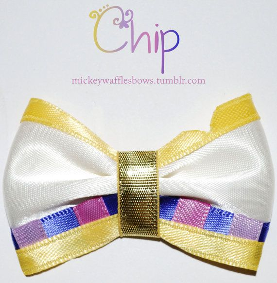 Mini Chip Hair Bow by MickeyWaffles on Etsy, $3.00
