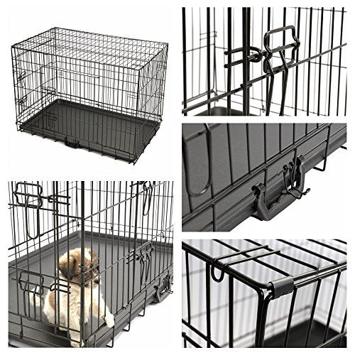 Magshion XS-XL 5 Sizes Travel Folding Metal Dog Crate Kennel House * Additional details at the pin image, click it  (This is an amazon affiliate link. I may earn commission from it)