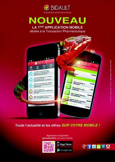 cabinet Bidault lance la 1ère application mobile dédiée à la Transaction pharmaceutique | Les News Pharmacie | Scoop.it