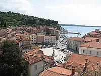 The popular holiday destination of portoroz, Slovenia