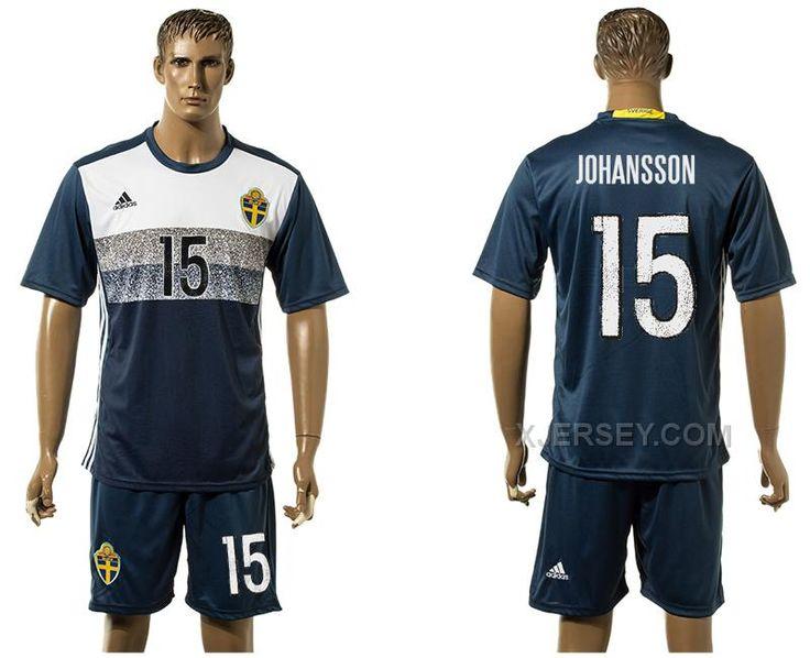 http://www.xjersey.com/sweden-15-johansson-away-euro-2016-jersey.html SWEDEN 15 JOHANSSON AWAY EURO 2016 JERSEY Only $35.00 , Free Shipping!