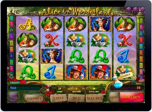 Играть в казино онлайн Alice in Wonderland на деньги.  Всем с детства знакома сказка о приключениях девочки Алисы в невероятном мире — Зазеркалье. Компания iSoftBet подготовила эту новинку на деньги для онлайн казино, создав множество интересных функций и возможностей: сво�