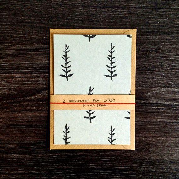 Christmas notecards set 6 Hand Printed Flat by mipluseddesign #Christmas #cards #stationery #handmade #printmaking #linocut #shootingstarsteam