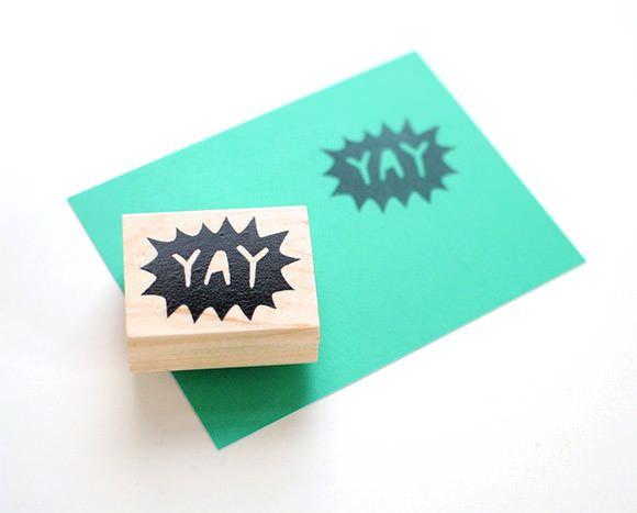fun school supplies: handmade rubber stamps // via etsy