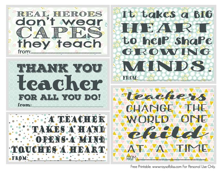 25 unique teacher appreciation notes ideas on pinterest free printable set of 5 teacher appreciation notes perfect to give a little note or negle Gallery