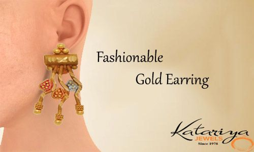 Magnificent Gold Ear Ring in 22Kt Buy Now : http://buff.ly/1NfAxYa COD Option Available With Free Shipping In India