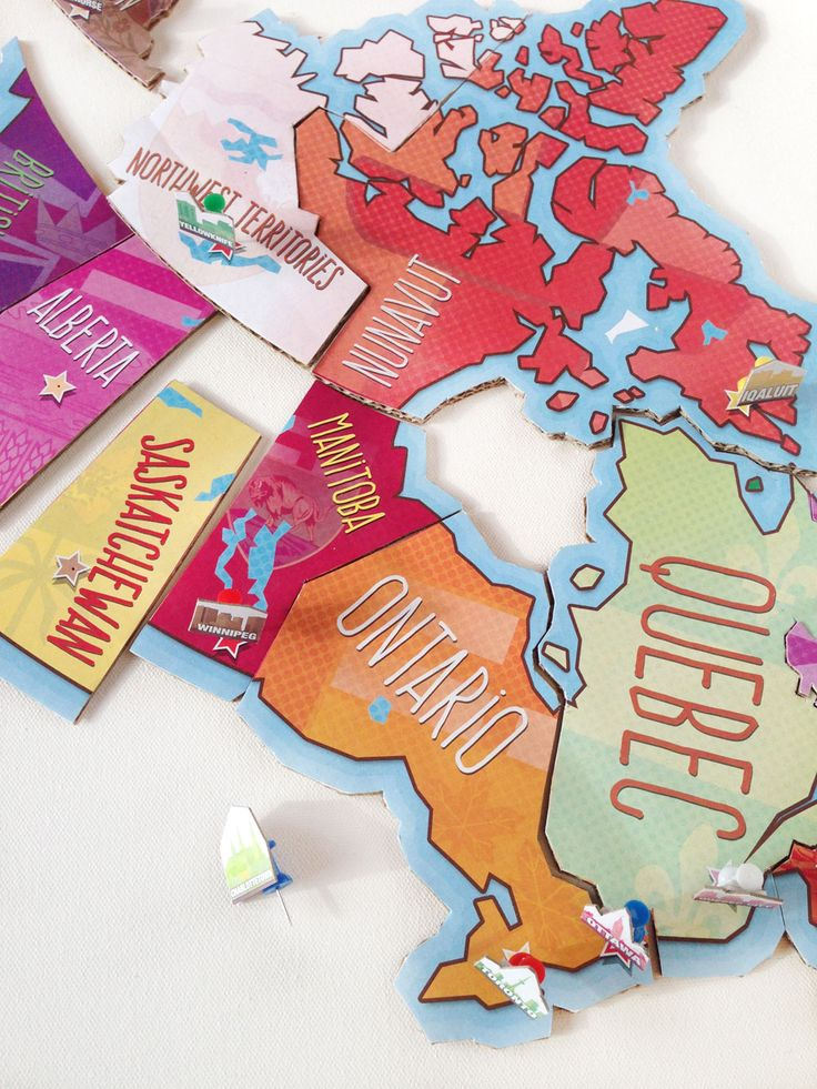 Learn the provinces, the capitals and where they all fit within Canada's geography with this super-cool printable map puzzle. Make it once, play with it again and again and again.