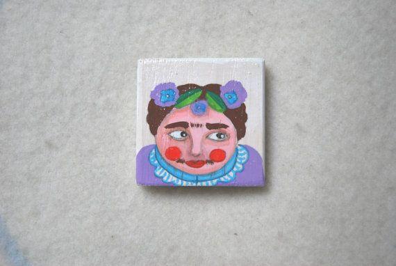 calamita Frida kahlo di LabLiu su Etsy, €7.50