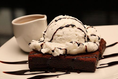 The brownie with vanilla ice cream and chocolate sauce. You can't go wrong.
