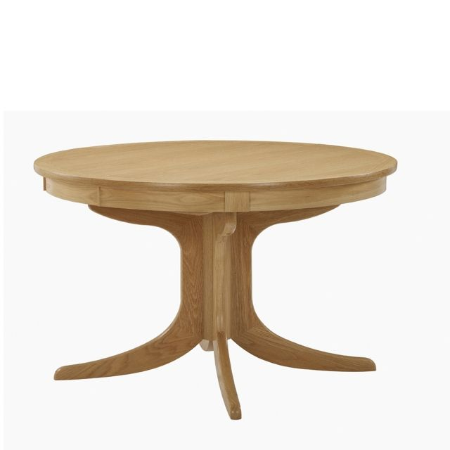 Nathan Shades Oak Circular Pedestal Dining Table Dining Tables