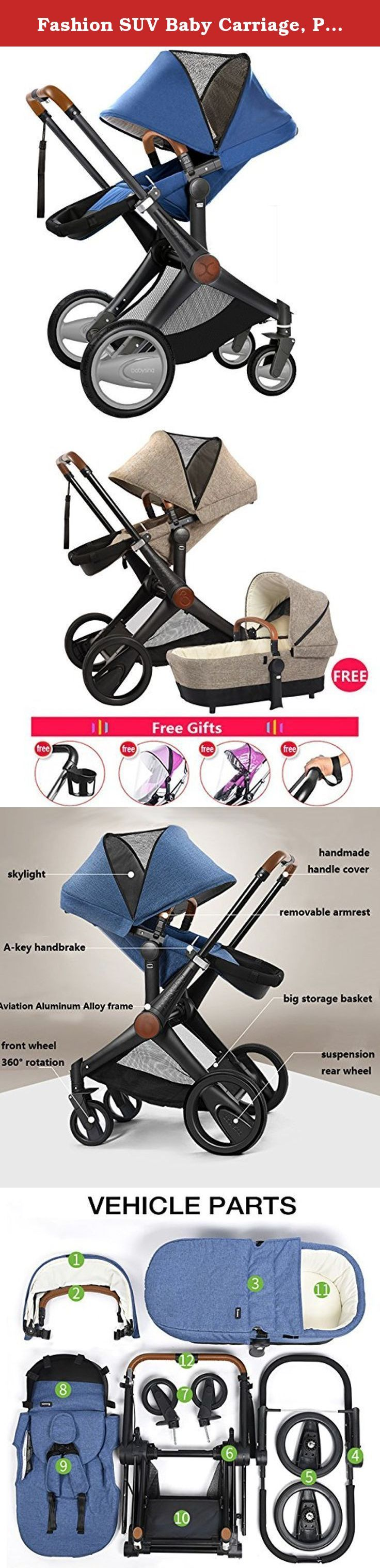 Fashion SUV Baby Carriage, Pushchair, 2 in 1 Baby Stroller