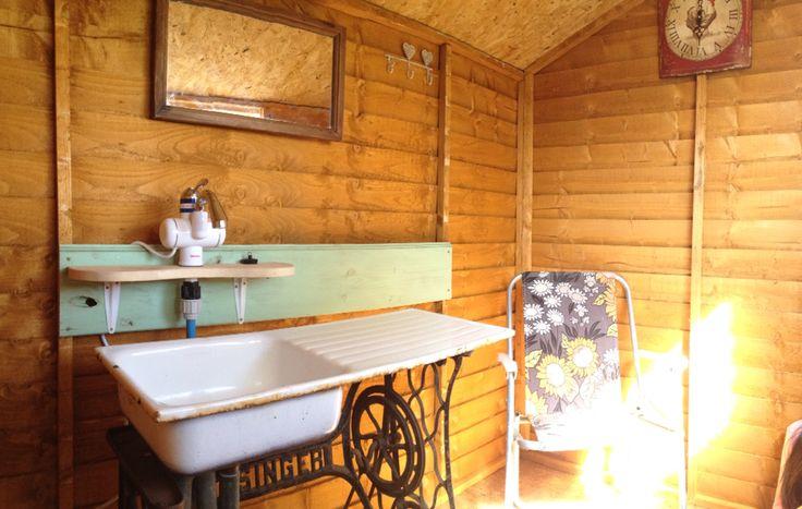 Wash hut