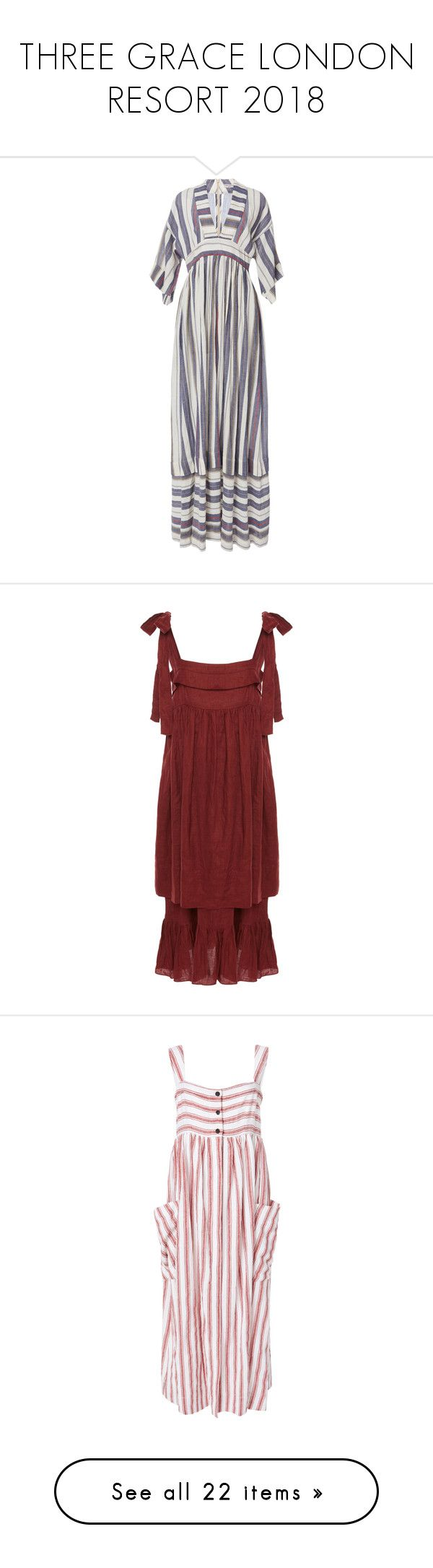 """THREE GRACE LONDON RESORT 2018"" by eenn ❤ liked on Polyvore featuring dresses, elbow sleeve dress, deep v neck dress, low v neck dress, elbow length dresses, half sleeve dresses, ruched dress, shirred dress, square neck dress and red square neck dress"