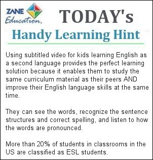 http://www.zaneeducation.com - Another handy learning hint to help ensure Teachers, Parents and Students, receive the full benefits from using the unique visual learning resources provided by Zane Education.
