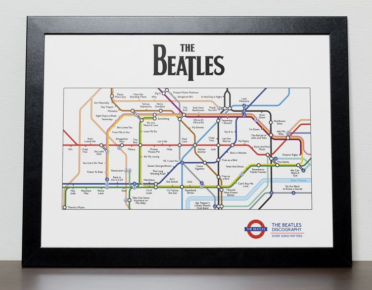 The Beatles Discography in the style of London Tube/Subway
