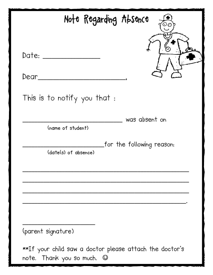 16 best Ideas for Classroom Management images on Pinterest 1st - absence note