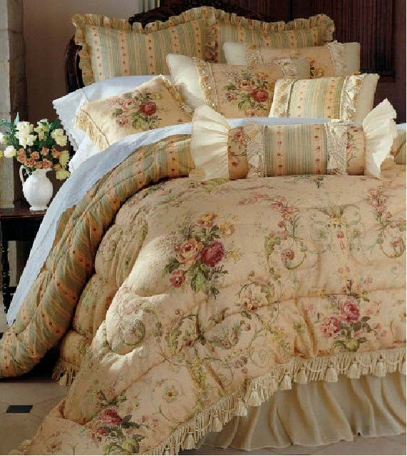 1000 images about colchas de lujo on pinterest ruffle bedding bedding sets and comforter sets - Colchas de lujo ...