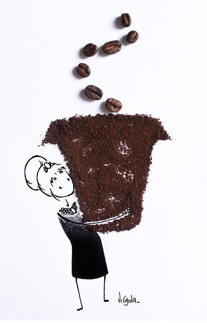 Girl holding cup of coffee art