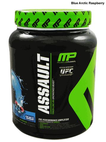 Muscle Pharm Assault Pre-Workout 32 Servings l Rock Bottom Fitness