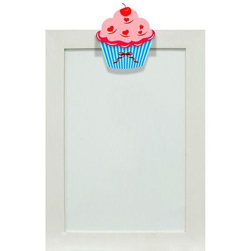 Quadro de Avisos Magnético Cupcake (25x35cm) Branco - Kapos
