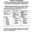 This informative handout includes the definition of bullying, a chart defining the different types of bullying, and examples of each.  Great to use...