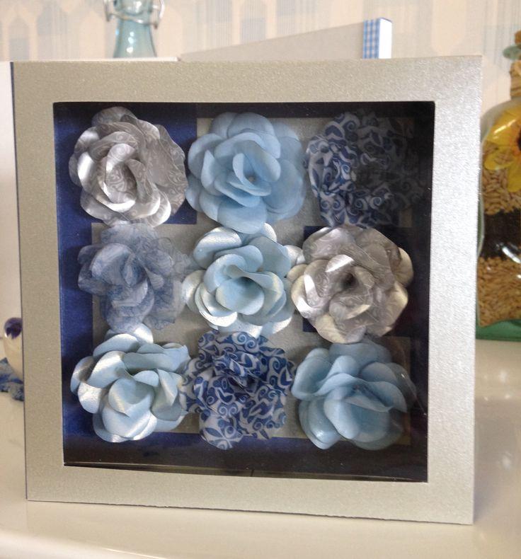 Blue Paper Roses