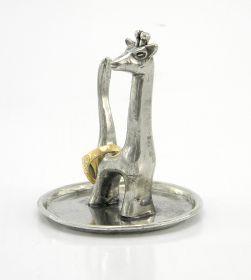 Portanelli Giraffa Porta anelli in peltro realizzato a mano #madeinitaly #artigianato #peltro #pewter